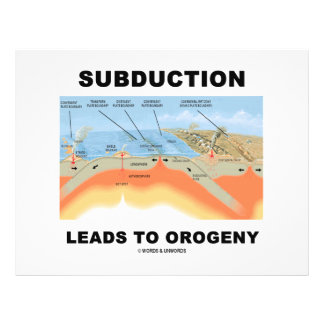 Subduction Leads To Orogeny (Geology Humor) 21.5 Cm X 28 Cm Flyer
