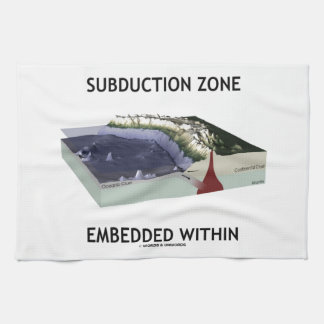 Subduction Zone Embedded Within (Geology Humor) Tea Towel