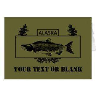 Subdued Alaska Combat Fisherman Badge Card