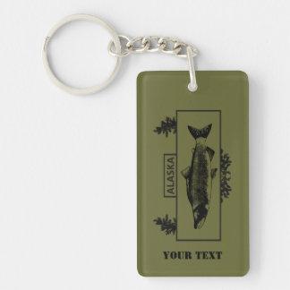 Subdued Alaska Combat Fisherman Badge Key Ring