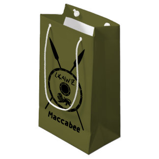 Subdued Maccabee Shield And Spears Small Gift Bag