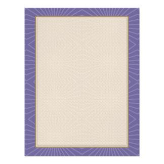 Subdued Purple Starburst Pattern Full Color Flyer