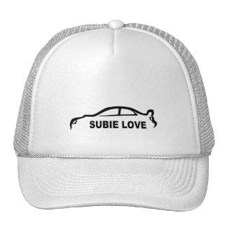 Subie Love Black silhouette Cap