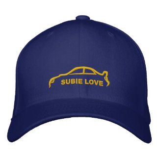 Subie Love Royal Blue with Gold Silhouette Baseball Cap