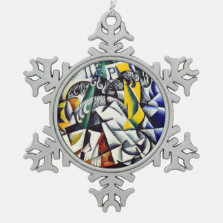 Subject from a Dyer's Shop Snowflake Pewter Christmas Ornament