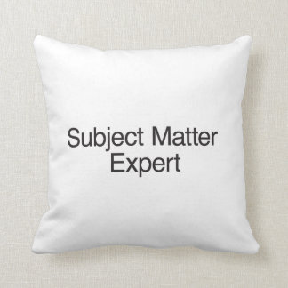 Subject Matter Expert Cushions