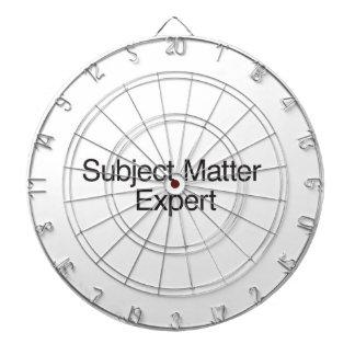 Subject Matter Expert Dartboards