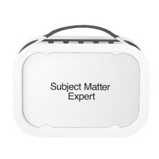 Subject Matter Expert Lunchboxes