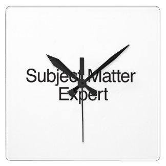 Subject Matter Expert Wall Clock