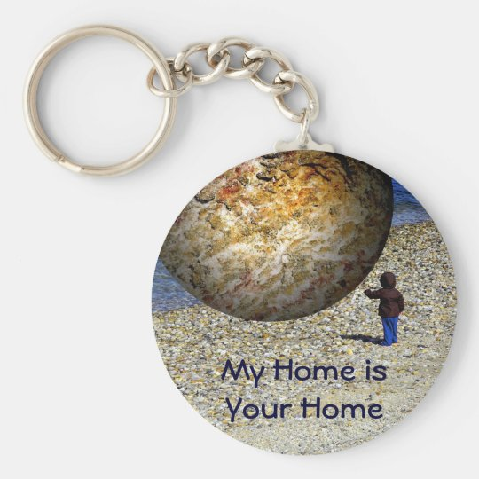 Subjective Reality Kid's Fantasy Basic Round Button Key Ring