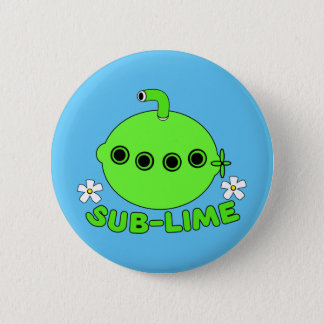 Sublime Sub Lime 6 Cm Round Badge