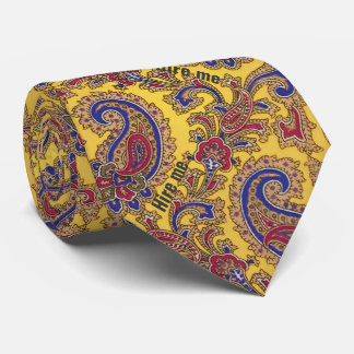 "Subliminal Message ""Hire Me"" or Create Your Own Tie"