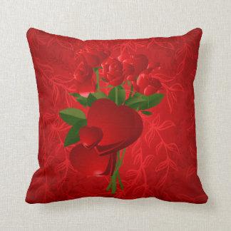 Subliminal Roses & Hearts American MoJo Pillow Cushion