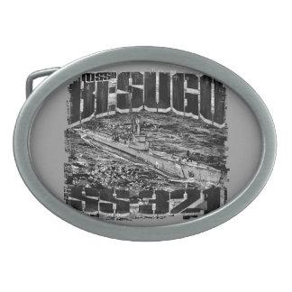 Submarine Besugo Pewter Belt Buckle