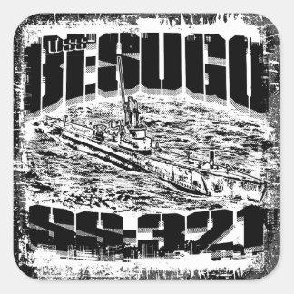 Submarine Besugo Square Stickers Sticker