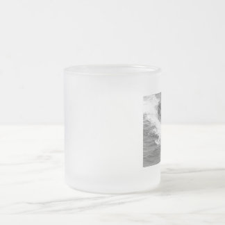 submarine in suface - surfaced submarine frosted glass mug