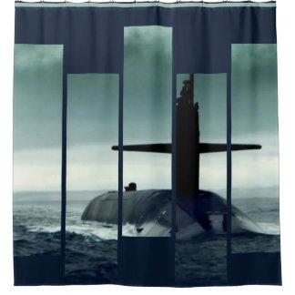 Submarine: Sail she may, shine she must Shower Curtain