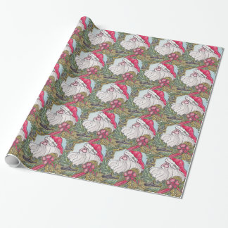 Submarine Santa Alt Wrapping Paper