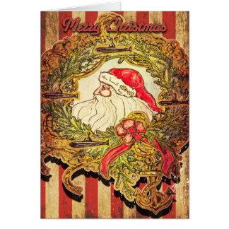 Submarine Santa Christmas Card