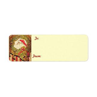 Submarine Santa gift tags