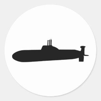 Submarine Classic Round Sticker