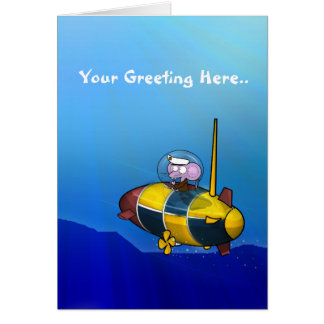 Submaring Mouse Greeting Cards