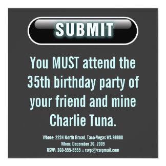 Submit Button 13 Cm X 13 Cm Square Invitation Card