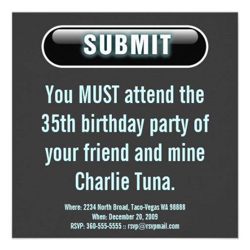 Submit Button Invite