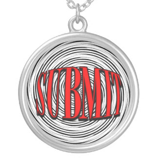 Submit Round Pendant Necklace