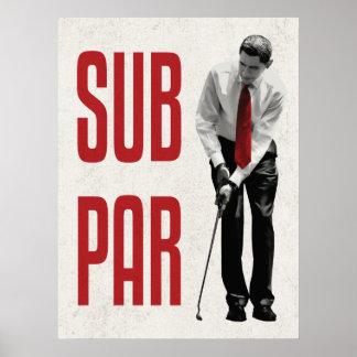 Subpar Obama Print