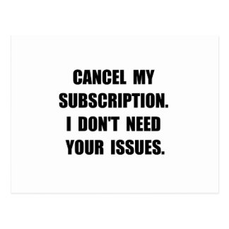 Subscription Issues Postcard
