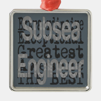 Subsea Engineer Extraordinaire Silver-Colored Square Decoration