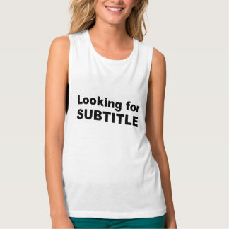 subtitle flowy muscle tank top