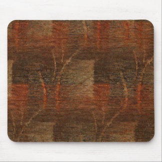 Subtle Abstract Pattern in Rust and Brown Mouse Pad
