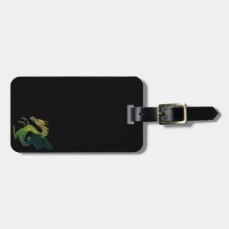 Subtle Black Dragon Luggage Tag