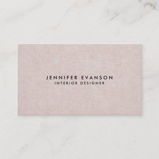 Subtle Blush Pink Simple Paper Elegant Texture Business Card