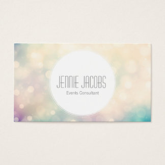 Subtle Bokeh Business Card