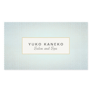 Subtle Chevron and Light Blue Chic Salon and Spa Pack Of Standard Business Cards