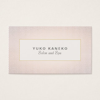 Subtle Chevron and Light Pink Chic Salon and Spa 2 Business Card