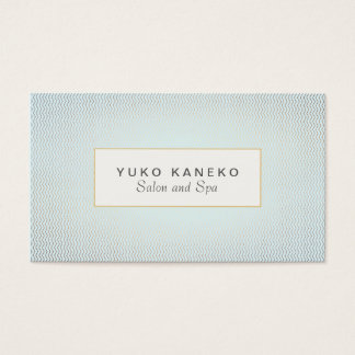 Subtle Chevron Light Blue  Salon and Spa Business Card