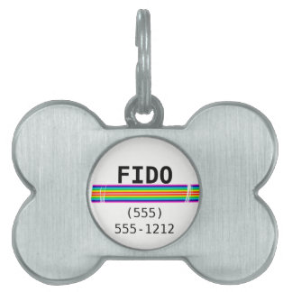 Subtle Horizontal Rainbow Red Template Pet ID Tag