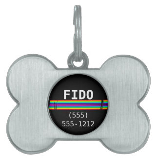 Subtle Horizontal Rainbow Template Pet Tag