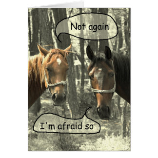 Subtle Humor Horses Talking Birthday Greeting Card