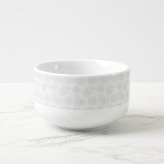 Subtle Large Paisley Bandana Texture Soup Mug