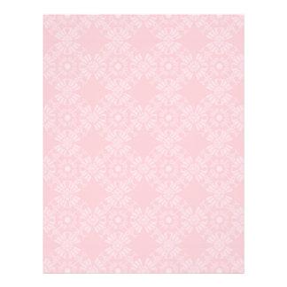 Subtle Pale Pink Geometric Floral Flyer Design