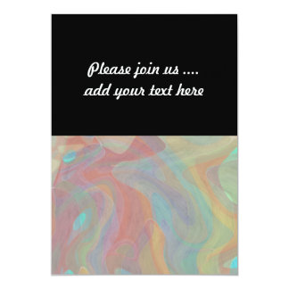 Subtle Pastel Watercolor Abstract Art 13 Cm X 18 Cm Invitation Card