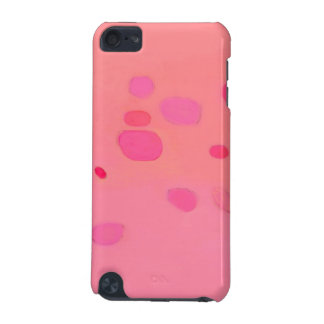 Subtle pink abstract landscape spots iPod touch (5th generation) cover