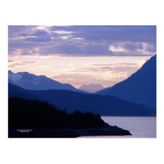 Subtle Pink Inside Passage Sunset Postcard