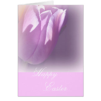 Subtle Pink Tulip Easter Card