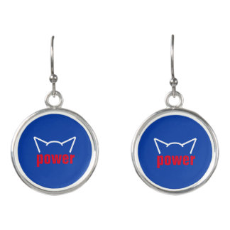 Subtle Pussy Power Cat Ears Resistance Women Earrings